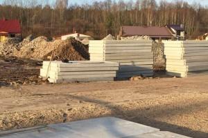 Place idrogi zpłyt betonowych - budowa Lipa